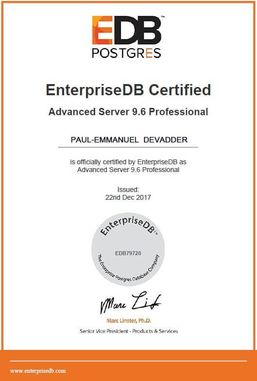 Enterprise DB Professional