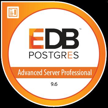 Enterprise DB Professional advanced server badge