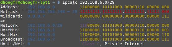 ipcalc subnet DBaaS